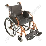 Aidapt Deluxe Lightweight Self Propelled Aluminium Wheelchair - Colour ORANGE