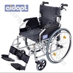 Aidapt Deluxe Lightweight Self Propelled Aluminium Wheelchair - Colour SILVER