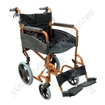 Compact Transport Aluminium Wheelchair - Colour Orange