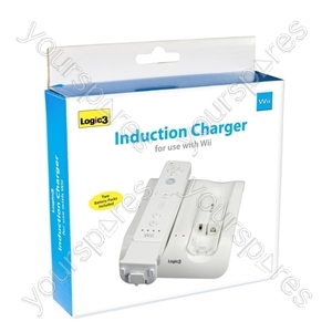 Wii Induction Charger & 2 Batt Packs(w)
