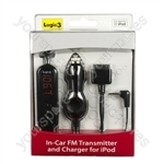 In-Car FM Transmitter and Charger for iPod