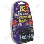 JR Inkjet Printer Ink Cartridge Refill Kit | Black MultiPack | 3 x 30ml