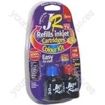 Canon MultiPass MP160 JR Inkjet Printer Ink Cartridge Refill Kit | Colour MultiPack | 3 x 30ml