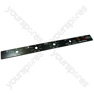Belling Cooker Control Panel Faceplate