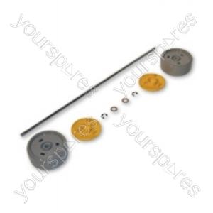 Dyson Assembly Kit Grey/yellow Vacuum Wheel