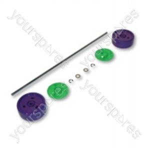 Dyson Assembly Kit Purple/lime Vacuum Wheel