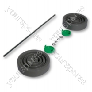 Dyson Assembly Kit Grey/Lime Vacuum Wheel