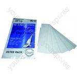 Electrolux Vacuum Motor Filter - Pack of 6 (EF36)