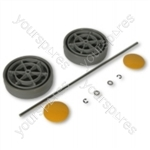 Assembly Kit grey/ Yellow Vacuum Wheel