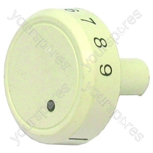 Indesit White Oven Temperature/Thermostat Knob