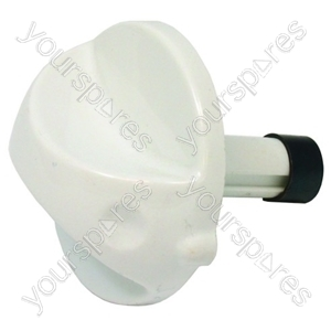 Indesit White Long Shaft Control Knob