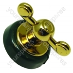 Creda Dark Green Brass Finish Oven Control Knob