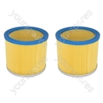Goblin Aquavac Early Wet & Dry Corrugated Vacuum Cleaner Filter X 2